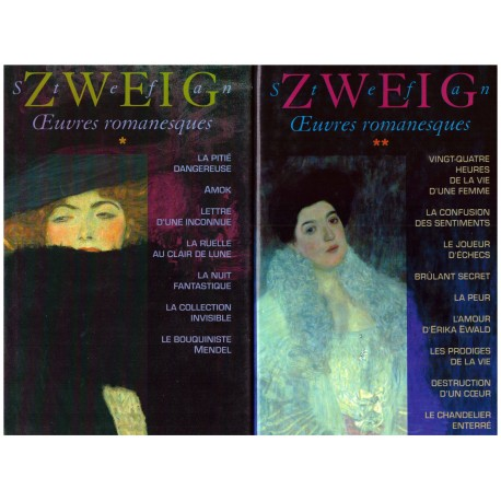 Oeuvres romanesques de Stefan Zweig 2/2V