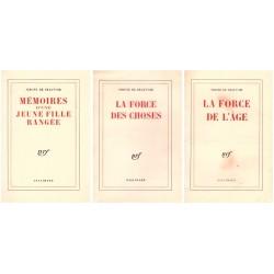 Mémoires 3V: Mémoires d'une jeune fille rangée, La Force de l'âge, La Force des choses Gallimard 0710377719640