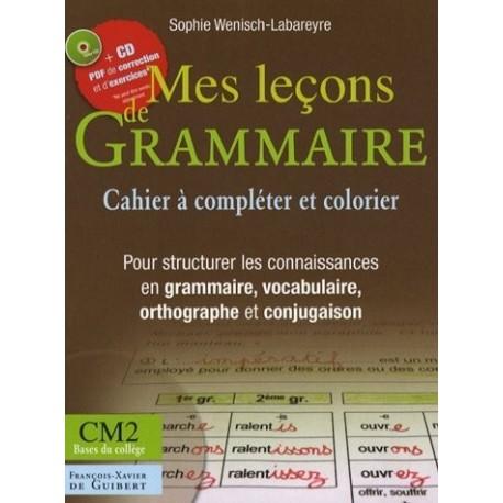 Mes leçons de grammaire CM2 : Manuel pour structurer les connaisances en grammaire vocabulaire orthographe conjugaison (1CD)