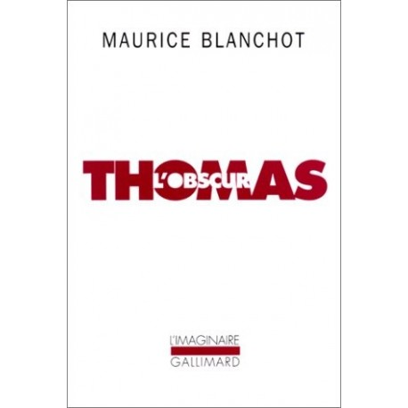Thomas l'obscur 9782070725489 Book