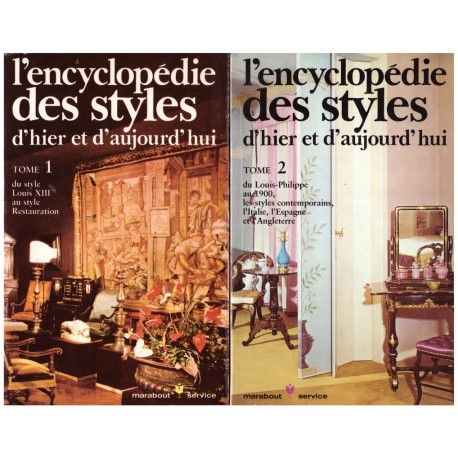 L' encyclopédie des styles d'hier et d'aujourd'hui 2/2V Marabout 0710377713518