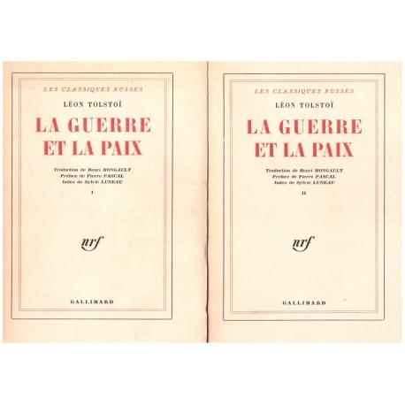 La guerre et la paix 2/2V TOLSTOI Léon Gallimard 0710377717660