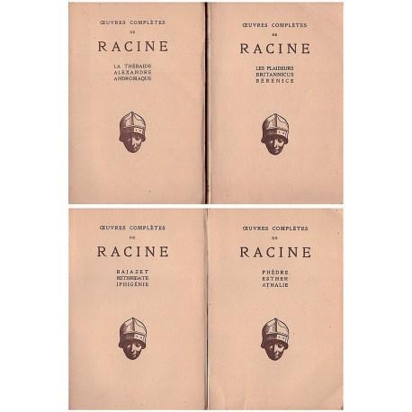 Oeuvres complètes de Racine Théâtre 4/4V RACINE Jean Les Belles Lettres 0710377712559