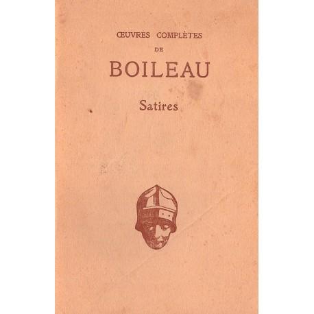 Oeuvres complètes de Boileau Satires BOILEAU Nicolas Les Belles Lettres 0710377717882 Book