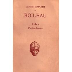 Oeuvres complètes de Boileau Odes Poésies diverses Les Belles Lettres 0710377717837 Book
