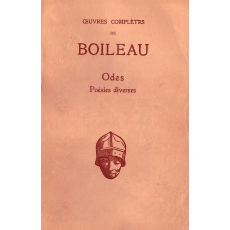 Oeuvres complètes de Boileau Odes Poésies diverses Les Belles Lettres 0710377717837