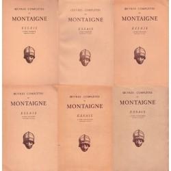 Oeuvres complètes de Montaigne Les essais 6/6V