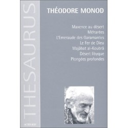Oeuvres MONOD Théodore Actes Sud 9782742711659