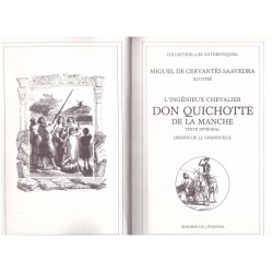 Don Quichotte de la Manche CERVANTES Miguel de GRANDVILLE Jean Jacques L' éventail 0710377713396