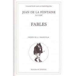 Fables illustrées par Grandville LA FONTAINE Jean de GRANDVILLE Jean Jacques L' éventail
