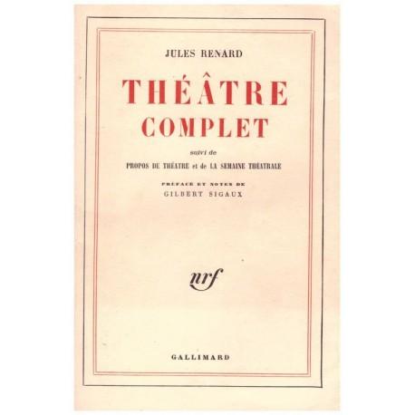 Théâtre complet RENARD Jules Gallimard 9782070253968
