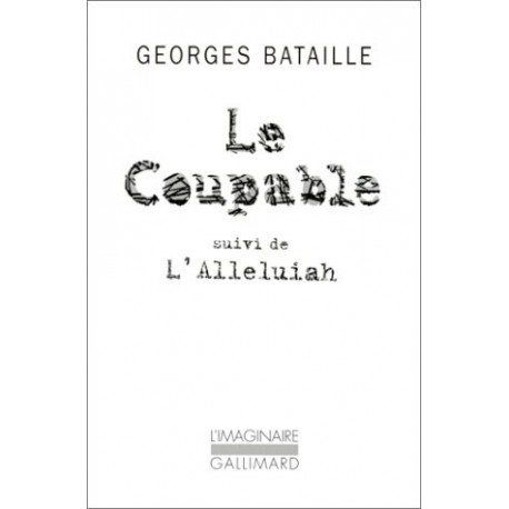 Le Coupable 9782070404957 Book