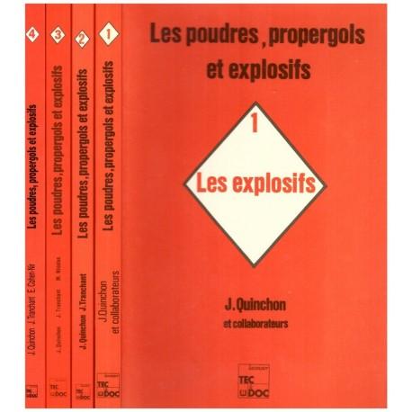 Les poudres, propergols et explosifs 4/4V