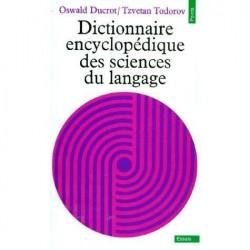 Dictionnaire encyclopédique des sciences du langage Ducrot, Oswald éditions du Seuil 9782020053495 Book