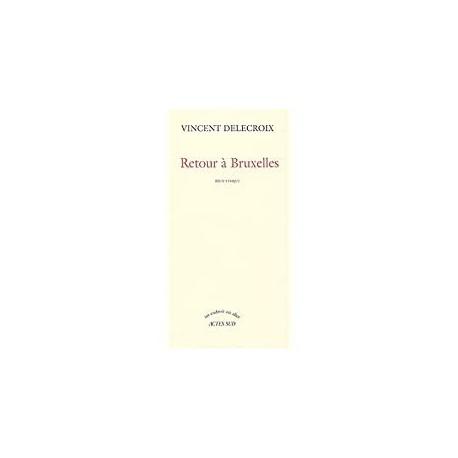 Retour à Bruxelles Delecroix, Vincent Actes Sud 9782742740895 Book