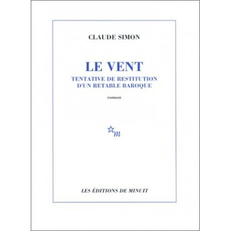 Le Vent. Tentative de restitution d'un retable baroque    9782707300560 Book